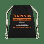 Terpentin Rucksack Sportbeutel Backpack in schickem Schwarz