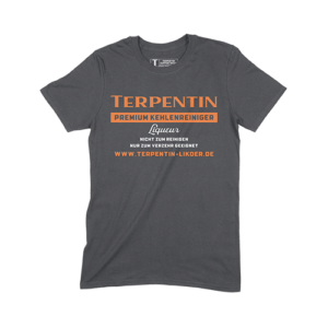 Terpentin Supporter T-Shirt Schwarz