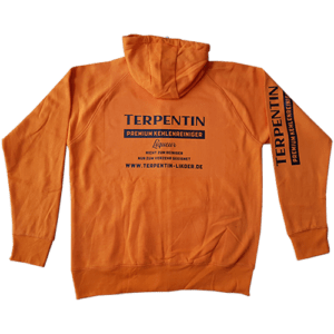Stylische orange Sweatjacke im Terpentin Design