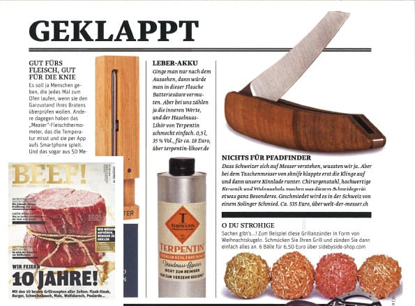Terpentin Likör empfohlen vom Beef Magazin